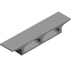 Cantilever cast section box girder revit family