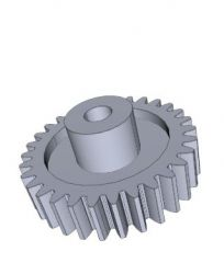 Moulded Spur Gears, module 2, 12 teeth solidworks file