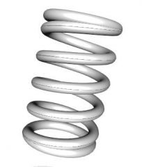 Helical Spring WB(25% compression)  OD 10MM  LENGTH 40MM WIRE DIA  1.6 MM SOLIDWORKS FILE