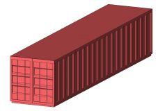 Revit Family Plant VEHICLE Cargo Container 40
