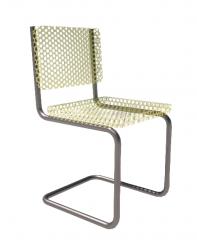 带竹制座椅和靠背Revit系列的Cantiliver椅子