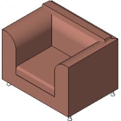 Revit almofadado cadeira