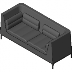 Chair Soft Seating   No Headrest Two Seat Sofa Revit