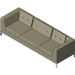 Chair Soft Seating Octo Revit