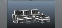 Sofá de sofá 3DS Max