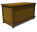 Chest_Storage_Bench skp