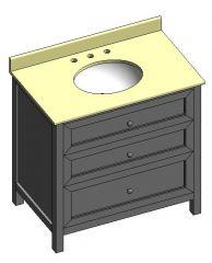 Chester 36 vanity unit DWG Model