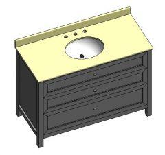 Mueble bajo lavabo Chester 48 Modelo DWG