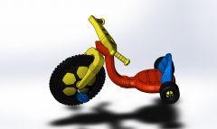 子供三輪車ソリッドワークスモデル