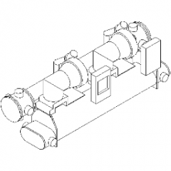 Chiller Centrifugal Water Cooled-1500 Revit