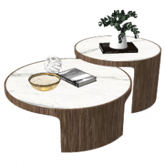 Circle marble table in table skp