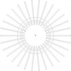 Circular Miniform Light Rattan Made Plan dwg Drawing