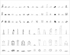 Clothes and shoes CAD collection dwg