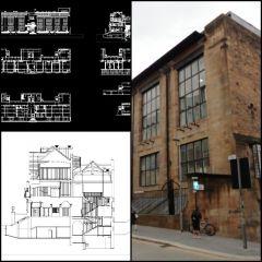 【世界着名建筑CAD图纸】格拉斯哥艺术学院