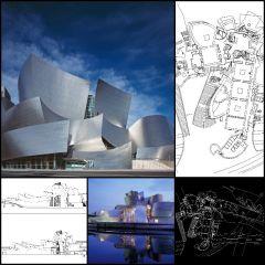 【Weltberühmte Architektur CAD-Zeichnungen】 Guggenheim Museum Bilbao