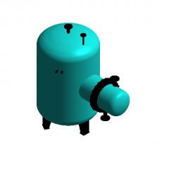 Collector volumetric water heater revit family