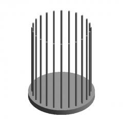 Construction Foundation Pile head (single row of steel bars) revit family