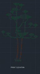 Cotton Tree for Garden 00001 dwg Drawing