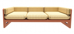 Bamboo Couch with 3 seats cushion revit family