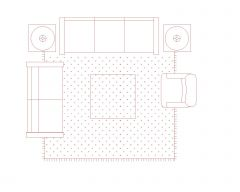 Couch Set Symbol for AutoCAD .dwg_21