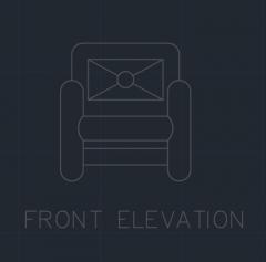 Couch für Schlafzimmer 00005 dwg Zeichnung