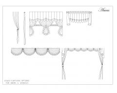 Curtains Set Options for doors & windows .dwg_9