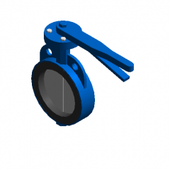 Wafer butterfly valve (DN50-DN150) revit family