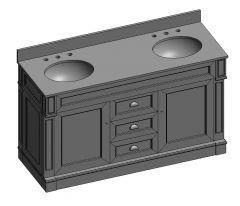 Davenport_60_double vanity unit 3ds 3d model