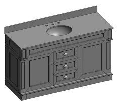 Davenport_60_single vanity unit 3ds 3d model