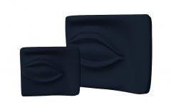 Decorazione occhi in velluto blu scuro skp