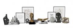 Statua astratta combinata decorativa e immagine skp