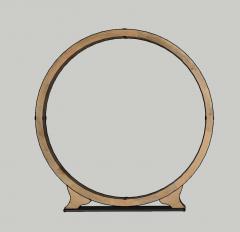 装饰餐具木制圆圈skp