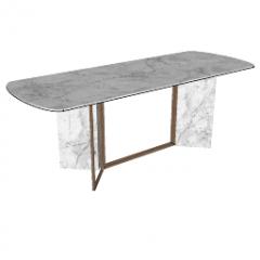 Decorative white marble table skp