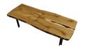 Decorative wooden table wiht crack center skp