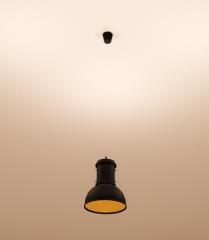 Hanging  dark shade ceiling light revit family