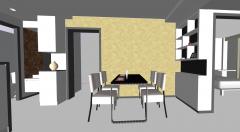 Esszimmer Design mit 2 Schränken skp
