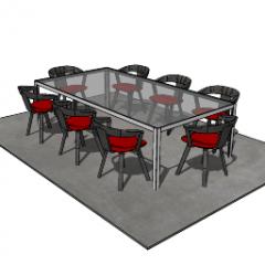 Mesa de comedor con 8 sillas skp