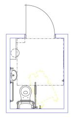 Disabled WC Layout UK Bldg Regs - End Entry