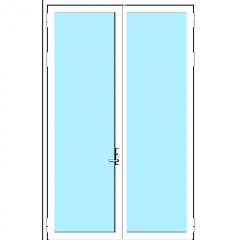 Door Dbl Curtain Active Fixed Steelbuilt 45mm Revit