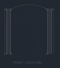 Door Frame for Balcony 00001 dwg Drawing
