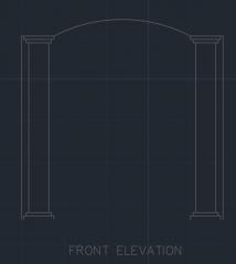 Door Frame for Balcony 00002 dwg Drawing