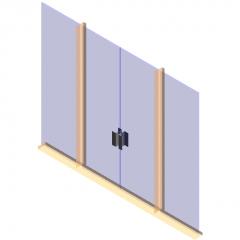Panel de puerta Puerta doble familia revit