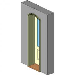 Door Segment Head Inswing Entrance Revit