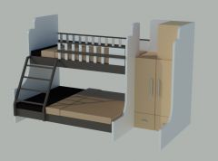 3D Double Deck Bed