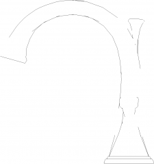 Double Handle Lavatory Faucet Right Side Elevation dwg Drawing