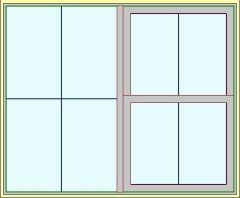 Окно с двумя окнами Revit Family 2