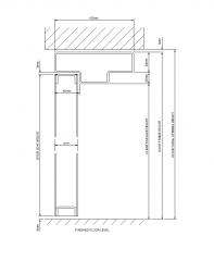 Double Rebate Jamb CAD detail