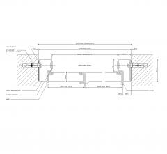 Double door horizontal section dwg