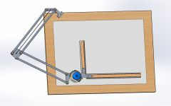 Drafting table Model in solidworks