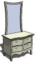 Dresser_4-Drawer_Mirror skp